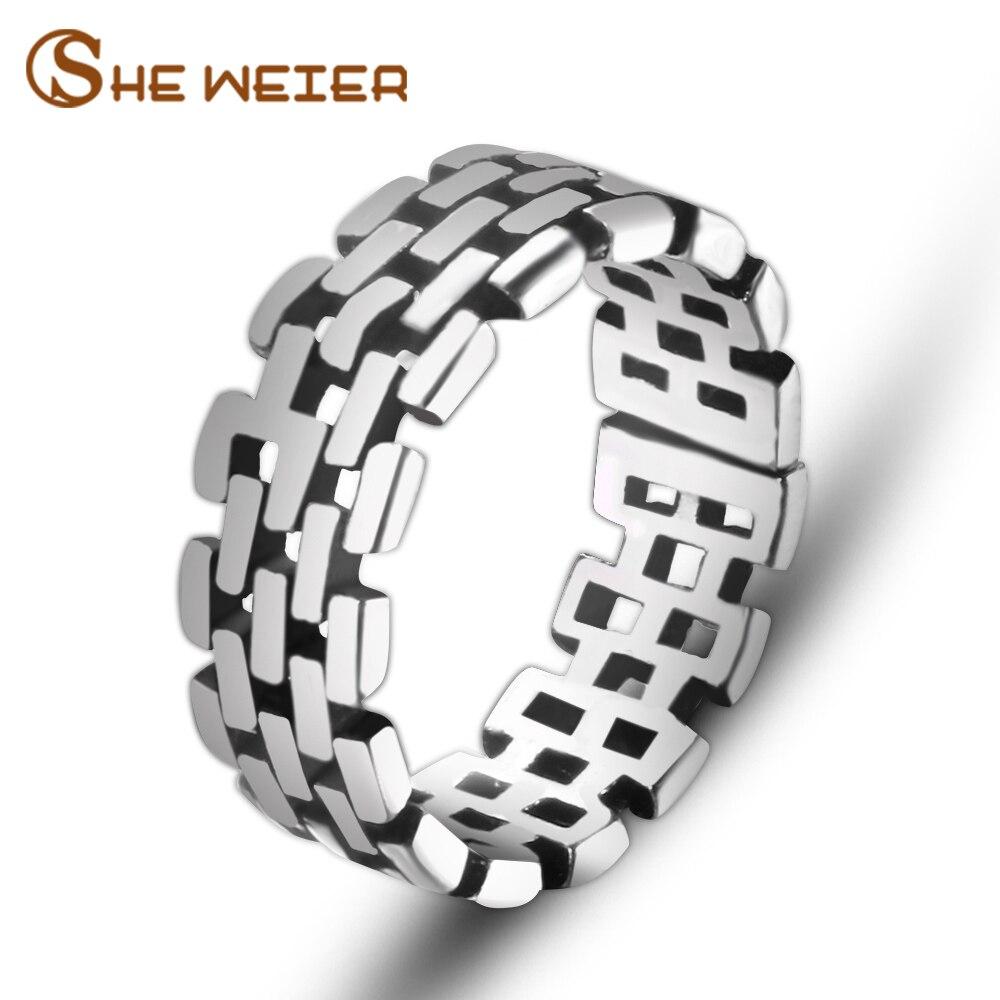 Она Вейер Регулируемый мужчины кольца для женщин Свадебные женские кольца пара мужской подарок на день Святого Валентина бижутерия для дев...