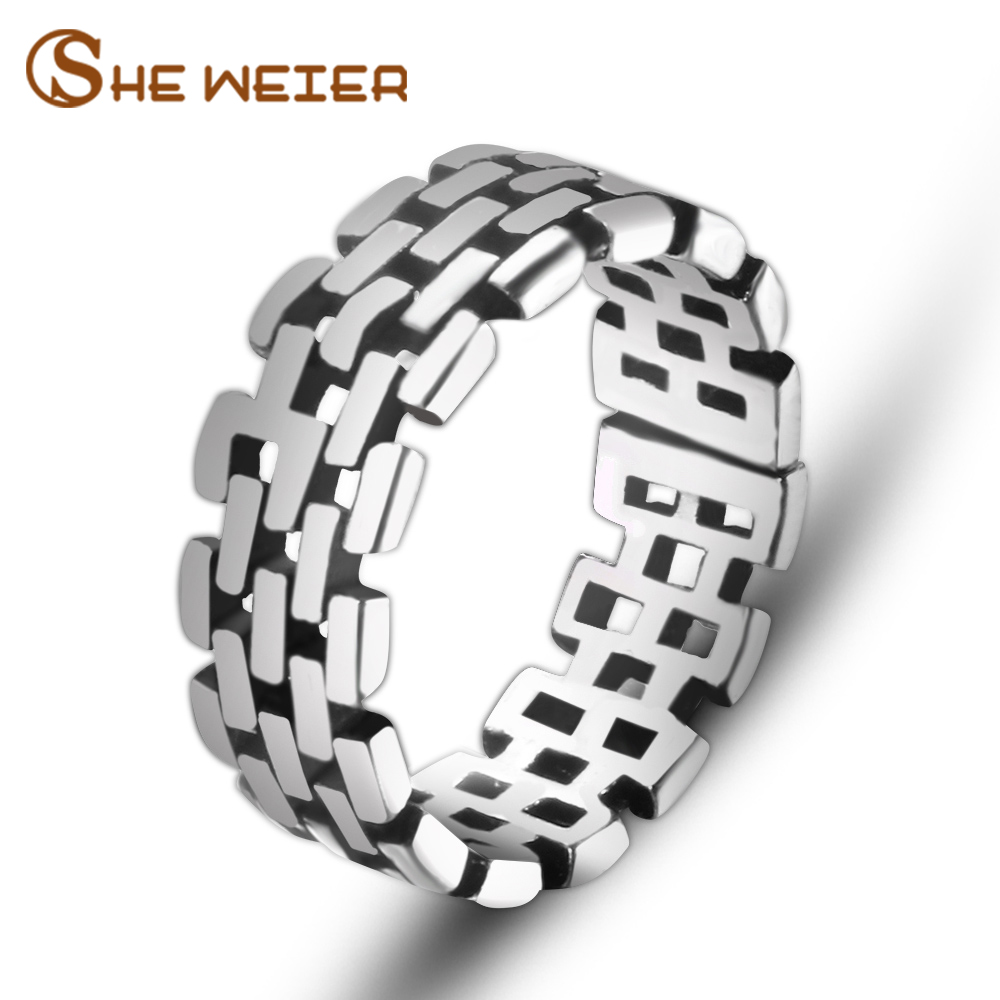 SHE WEIER adjustable men rings for women wedding female couple rings male valentine gift bijouterie girls Stainless Steel