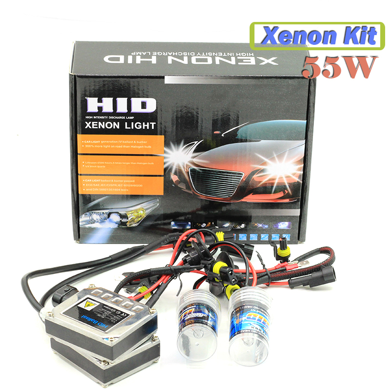 880 881 55W Xenon Bulb Ballast  HID KIT Car Conversion Headlight DRL Fog Lamp 4300K 5000K 6000K 8000K 10000K 12000K 15000K