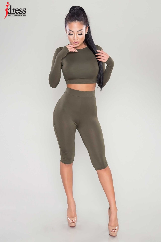 IDress Women Two Piece Bodycon Jumpsuit Playsuit New 2016 Summer Knee Length Black Bodysuit Sexy Club Elegant Rompers Womens Jumpsuit (4)