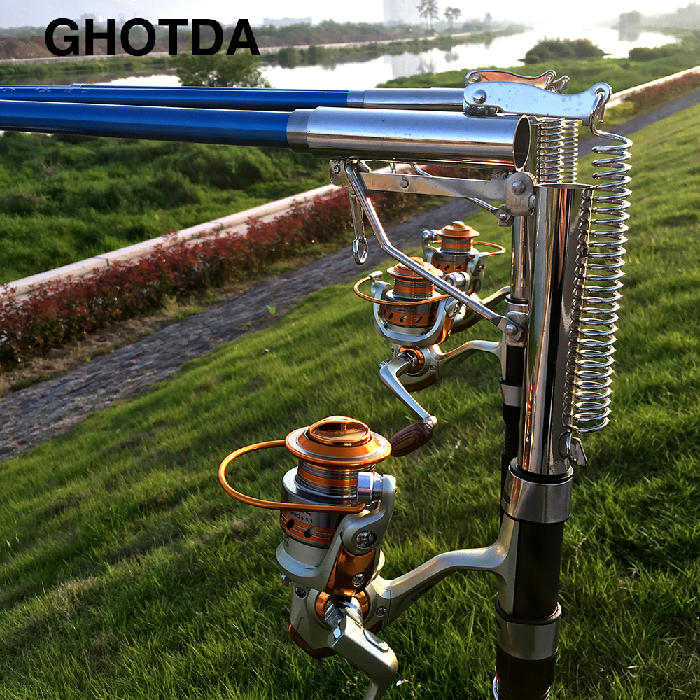 Automatic Fishing Rod Without Reel 1.8m 2.1m 2.4m 2.7m Sea River Lake Stainless Steel 1