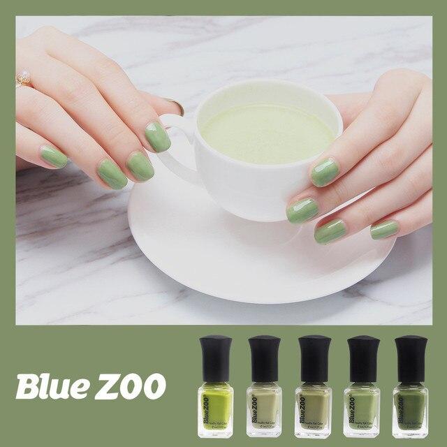 6mlbottle Women New Popular Beauty Nail Polish Green Series Nail