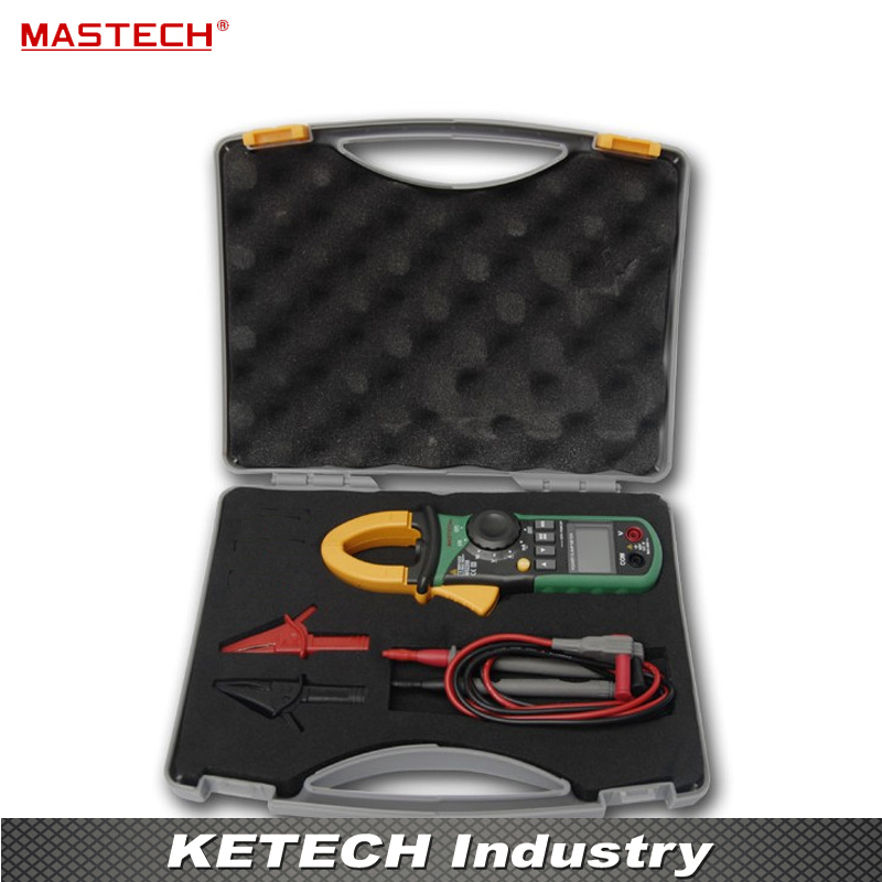 Harmonic Power Clamp Meter Tester Multimeter Trms Voltage Current Power Phase Angle Test Mastech MS2208