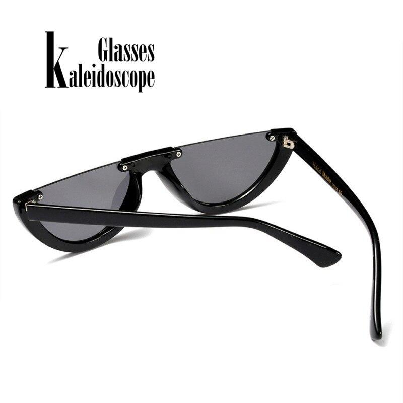 Half Frame Cat Eye Sunglasses for Women Semi-rimless Sunglass Half-rimmed Womens Sun Glasses Goggles UV400