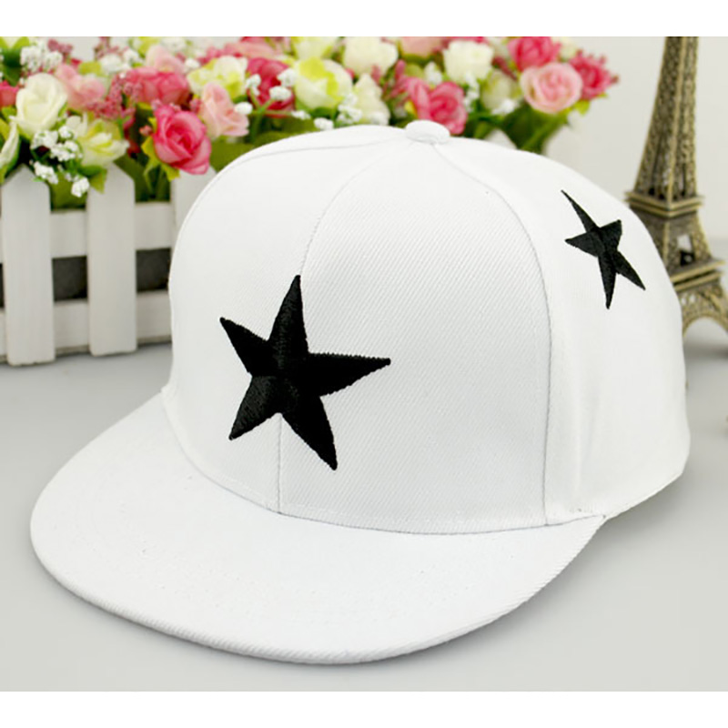 Audacious Boys Girls Children Hip Hop Caps Hats Child Adjustable Sun Protection Fashion Five-pointed Star Embroidery Holiday Travel Headwe Suitable For Men, Women, And Children