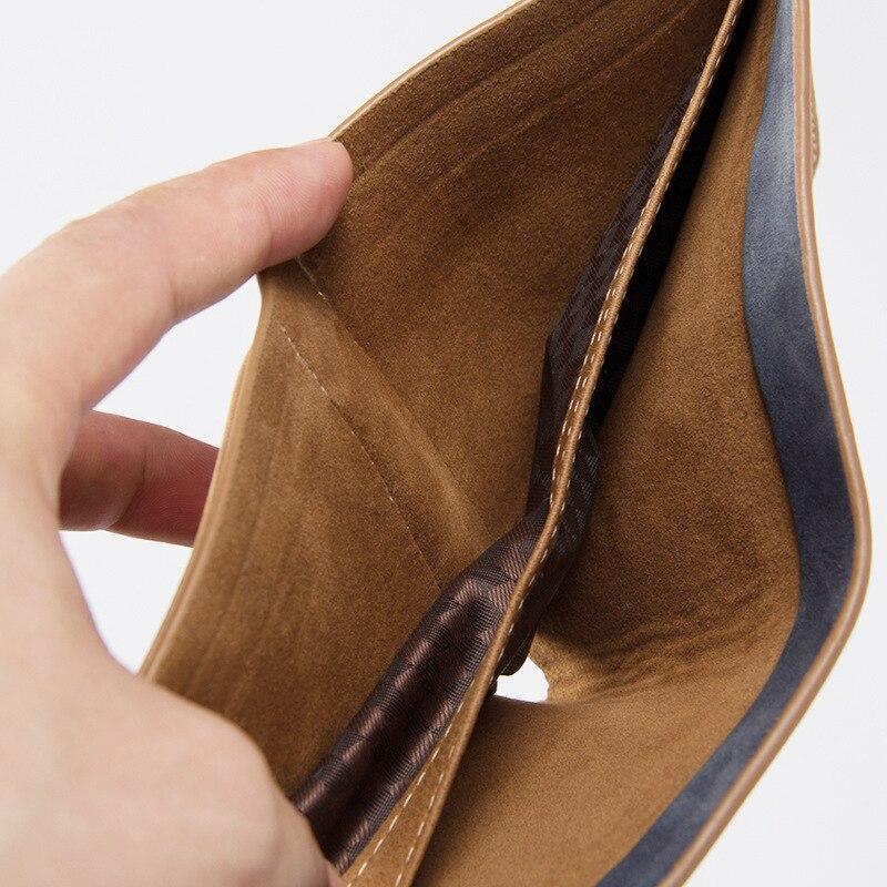 High Quality Soft Leather Wallet Men Vintage Style Men Wallets Leather Purse Male Credit Card Holder Men Wallets Coin Pocket 1