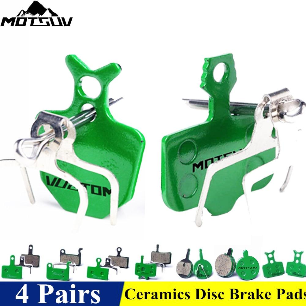4 pares Bicicletas cerámica pastillas de freno de disco para MTB freno de disco hidráulico shiman0 SRAM Avid Hayes tektro MAGURA formula Bicicletas almohadillas