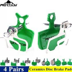 4 pary ceramika klocki hamulcowe dla MTB hydrauliczny hamulec tarczowy SHIMAN0 SRAM AVID HAYES TEKTRO Magura formuła podkładki rowerowe w Hamulce rowerowe od Sport i rozrywka na