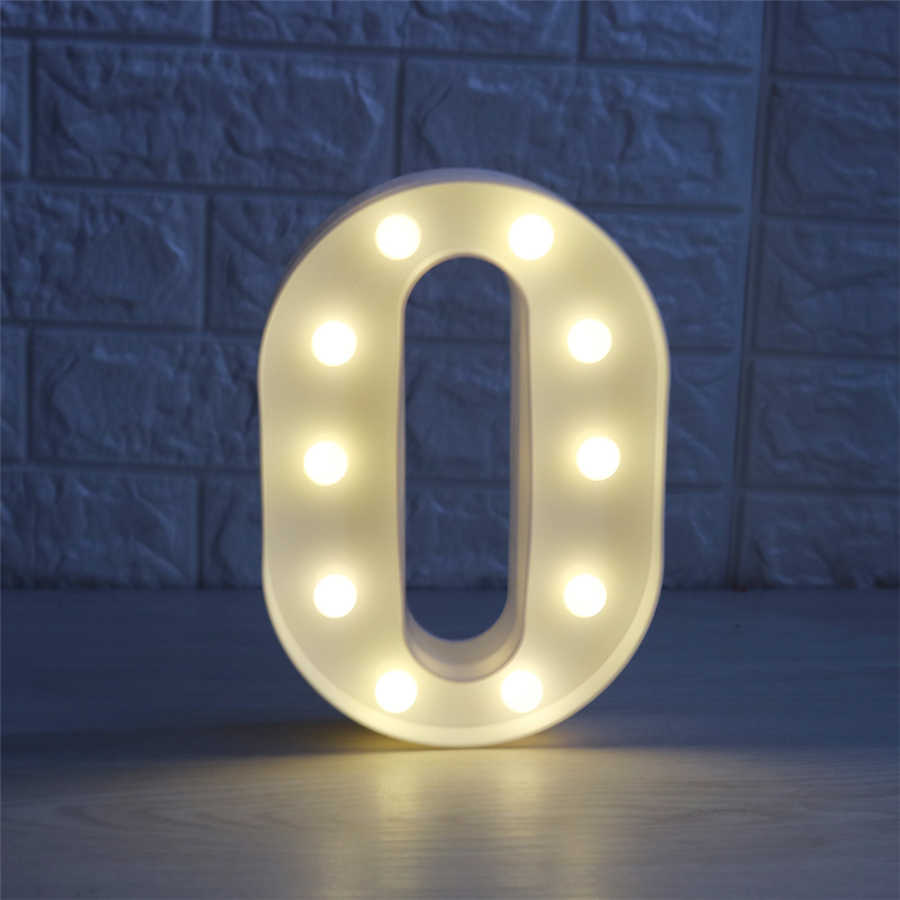 22CM 3D 26 letra blanca LED lámpara LED de letras pared interior luz de noche para colgar dormitorio boda cumpleaños fiesta Decoración