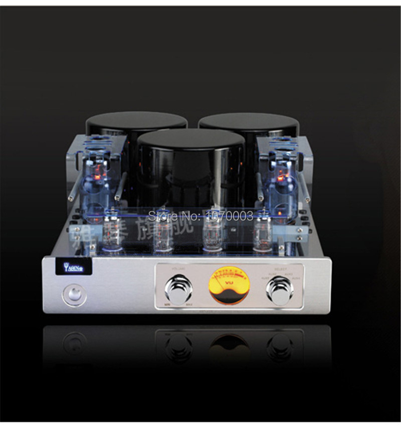 YAQIN MC-13S Integrated Vacuum Tube Amplifier Class AB1 Power Amplifier 6CA7T*4 SRPP Circuit 40W*2 110V/220V mistral mm 6 150wx2 hybrid integrated power tube amplifier with pre out