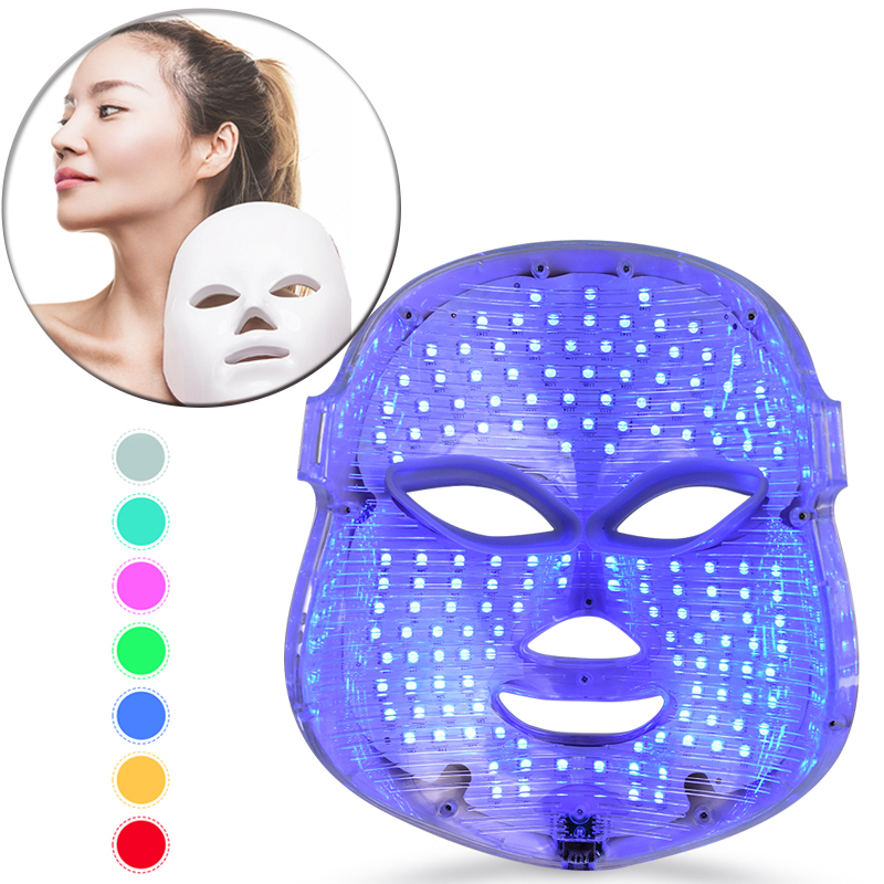 Microcurrents Photon Therapy Face Beauty Machine Skin Rejuvenation Wrinkle Removal Anti Acne Therapy Facial Massage Beauty Mask