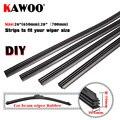 KAWOO Hojas de goma de calidad superior para limpiaparabrisas de vehículos hojas suaves (recarga) de limpiaparabrisas de auto de 6mm 26 28 accesorios de auto 4pzs / caja