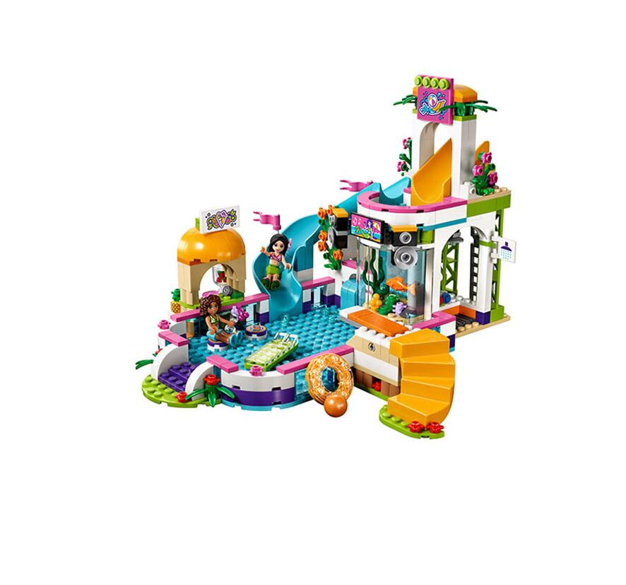 10611 593pcs Girl Friend Princess Heartlake Summer Pool Bela Building Block Compatible 41313 Brick Toy Kids toys Christmas