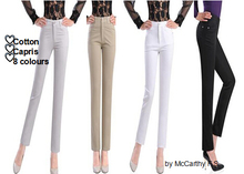 free shipping summer style spring autumn cotton capris casual pant  for women solid colour mid waist pencil pants slim ys0501