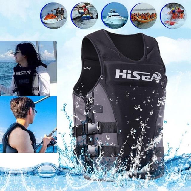 Неопреновый профессиональный спасательный жилет CE взрослый рыболовный жилет серфинг Дрифт моторная лодка плавучий спасательный жилет плавающая одежда