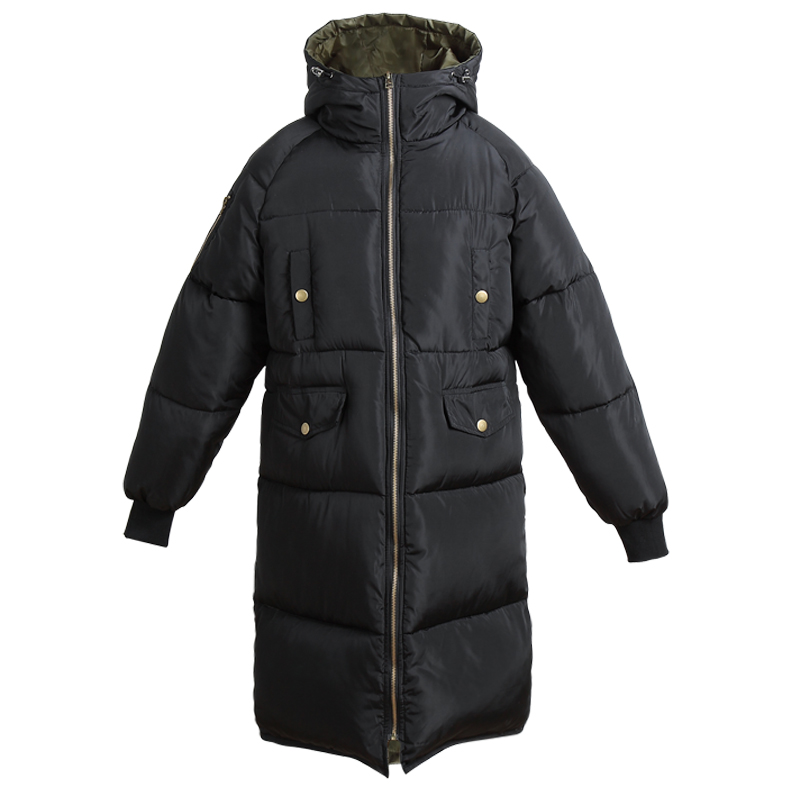New Women's Winter Jacket Women Cotton Parkas Jackets Winter Hooded Jacket Girls Fashion Padded Medium-long Slim Coats 0927-59 winter jacket women 2017 new female 5 color slim cotton padded jackets fashion short hooded zipper parkas coats a1013b 16601