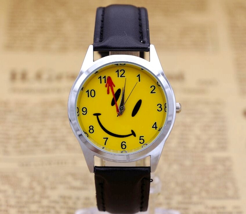 Smiling Face Boys Girl Cartoon Watch Fashion Lovely Girl Children Watches  Quartz Wristwatch Kids Dress Clock