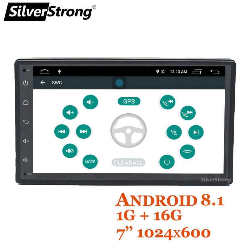 "2DIN coche 7 ""IPS GPS coche Android9.0 universal 2Din Lada Granta DVD de coche 2 DIN Universal estéreo medios SilverStrong K7001LB"