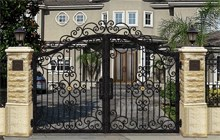 Wrought Iron Entrance Gates  Iron Gate Cost Yard Gates For Sale