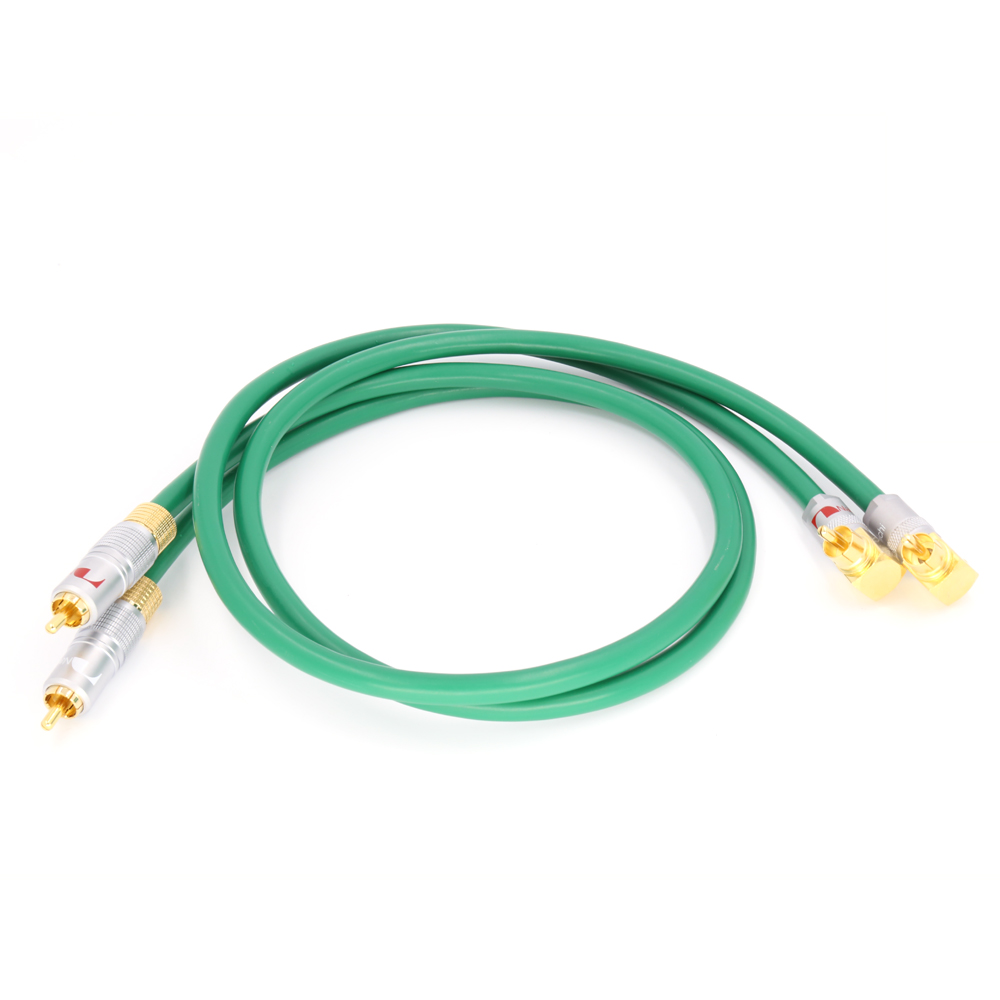 Hifi audio gold plated plugs connector <font><b>2328</b></font> audio 4N Copper <font><b>Mcintosh</b></font> RCA Interconnect audio cable image