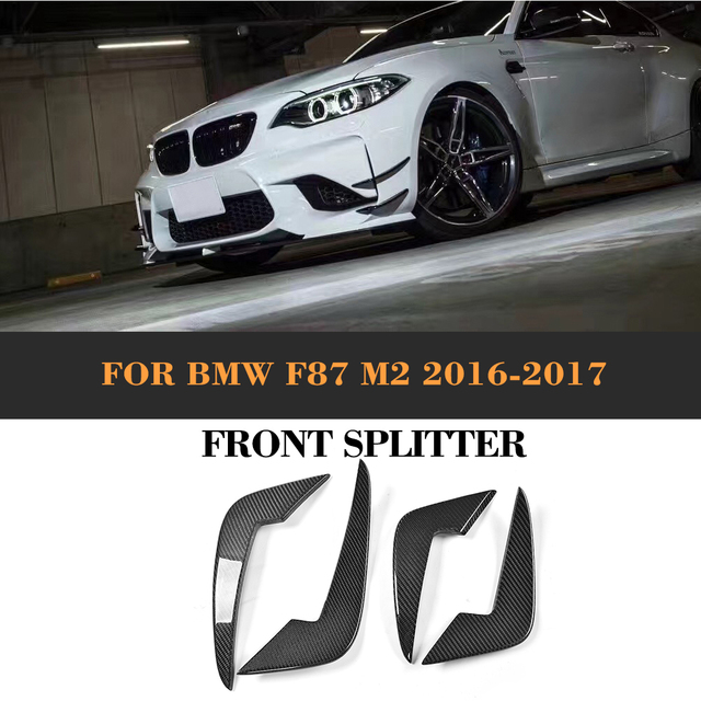 Carbon Fiber Front Bumper Side Trunk Decoration Wings For BMW F - 2 door bmw