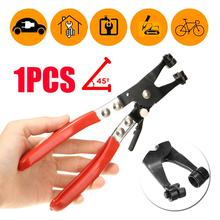 1pc 45 Degree Swivel Jaw Locking Car Pipe Hose Clamp Plier Fuel Coolant Clip Steel Tool For Car Repair Curved Throat Tube Pliers platel plier high quality tool locking combination pliers steel tie fasten tool