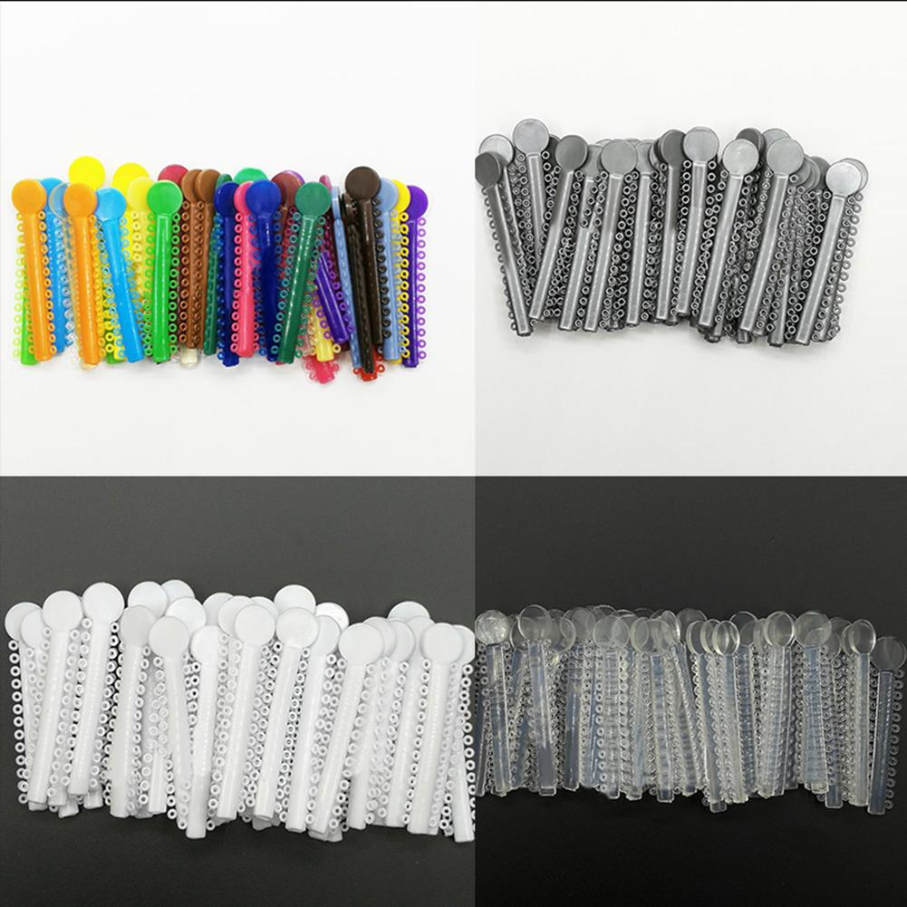 40Pcs 1Pack Dental Elastomeric Ligature Ties Orthodontics Elastic Rubber Bands Teeth Care Bright Color New Oral Health Tool