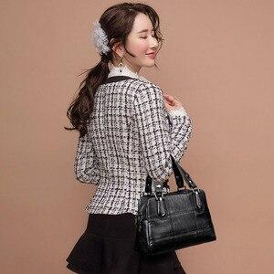 Image 5 - Bolsa de couro feminina bolsas de luxo bolsas femininas designer tote senhoras sacos de ombro marca mensageiro saco sac principal femme