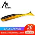 Мередит легко Shiner рыболовные приманки 50 мм 75 100 130 Воблер для карпфишинга Мягкие силиконовые искусственные двойной цвет - фото