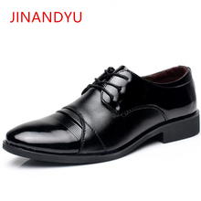 New Men Black Dress Shoes Leather Gentlemen Mens Formal Brand Business Style Slip On Wedding Oxford