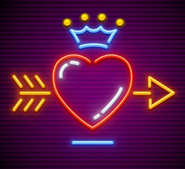 Custom Arrow Loving Love Glass Neon Light Sign Beer Bar
