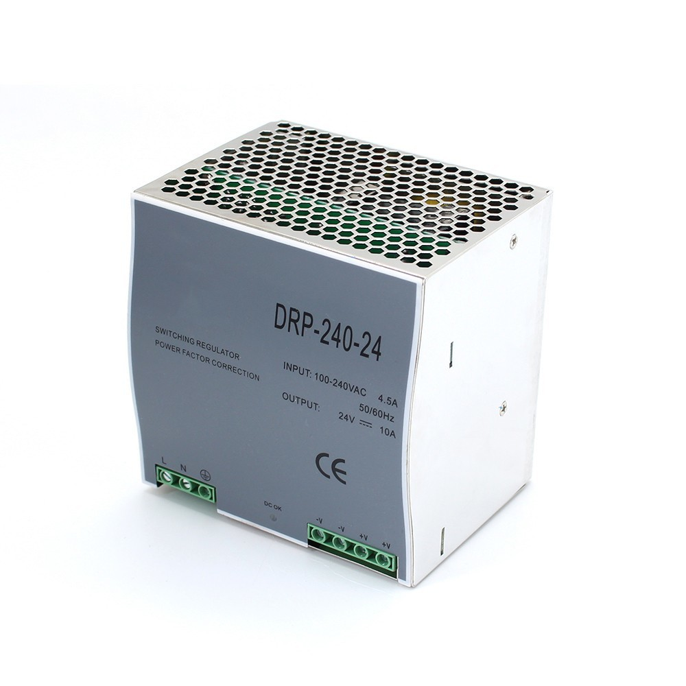 DR-240 Din Rail Power Supply 240W 24V 10A Switching Power Supply AC 110v/220v Transformer To DC 24v ac dc converter dr 240 24 high quality single output led dc 240w 24vdc 10a din rail power supply transformer switching power supply