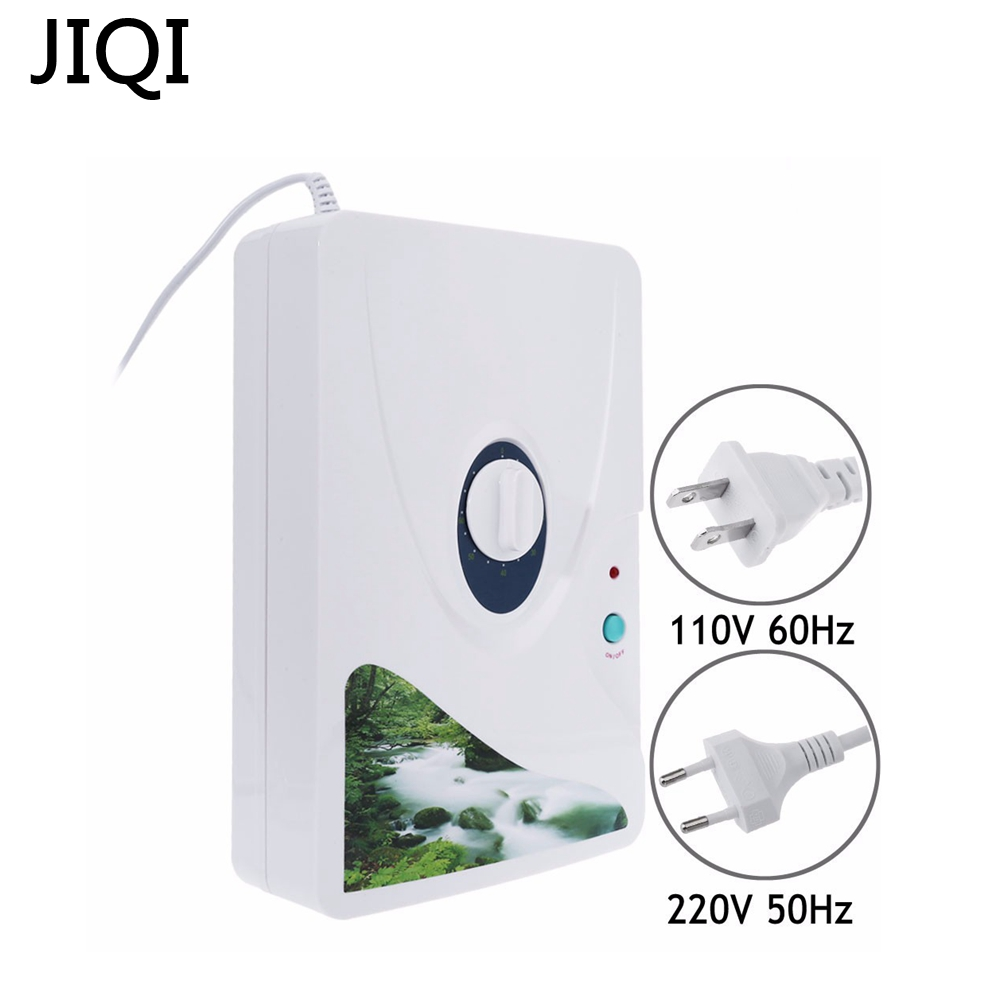 JIQI 600mg/h Ozone Generator Ozonator Wheel Timer Air Purifiers Oil Vegetable Meat Fresh Purify Air Water