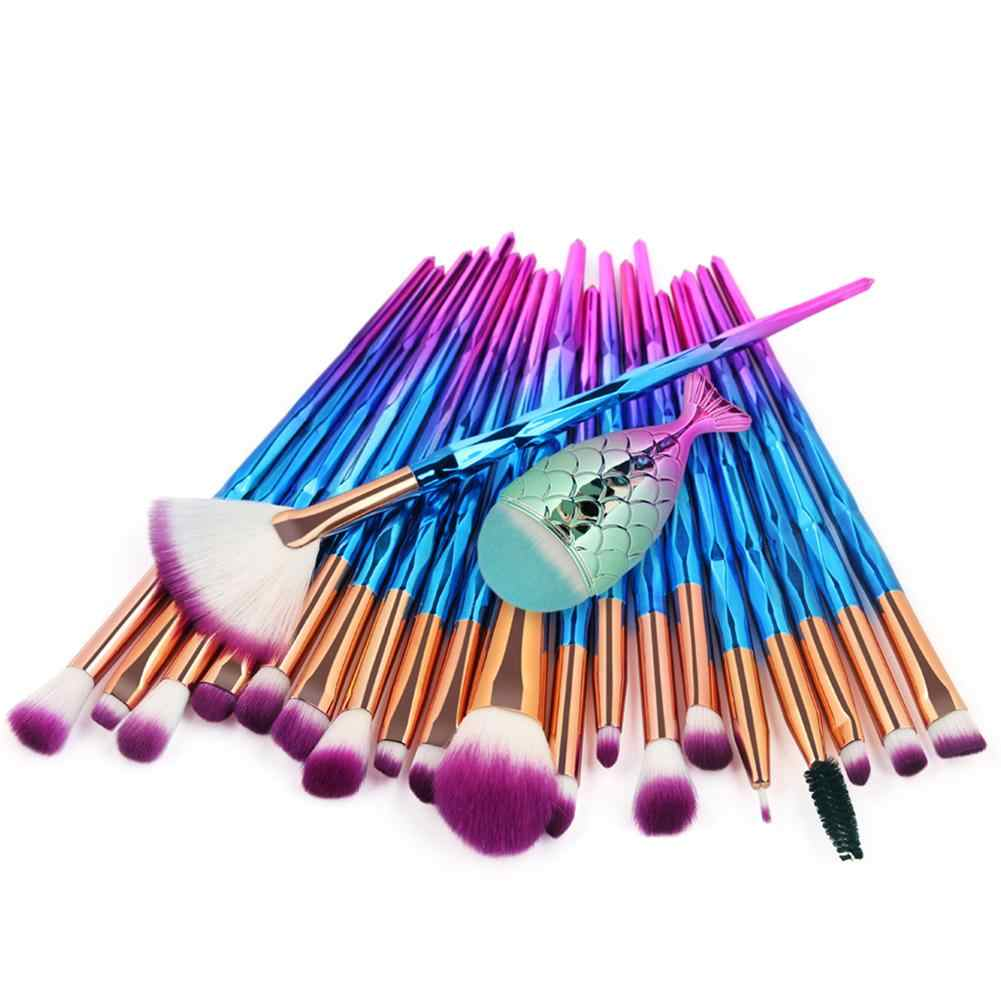 21 Pcs/lot Makeup Brush Set Mermaid Make Up Brush Foundation Blush Eyes Facial Brusher Kit Professional Beauty Tools Maquiagem