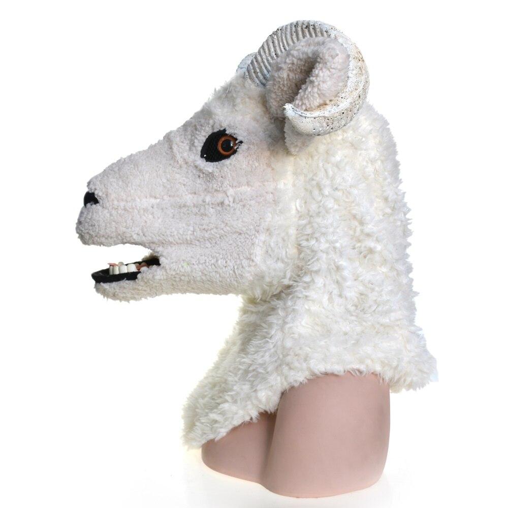 Costume de carnaval Cosplay mascarade de mouton d'agneau masque animal complet pour fête de carnaval d'halloween - 3