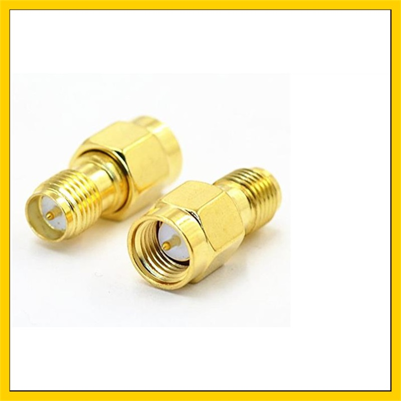 2 Pieces Antenna Adapter  SMA Male (pin ) To RP SMA Female Connector For Signal Booster Repeater Amplifier