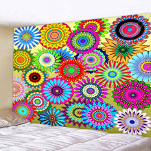 Multicolor Geometry Mandala Tapestry Psychedelic Wall Hanging Bohemian Tapisserie Murale Indian Floral Carpet Beach Towel