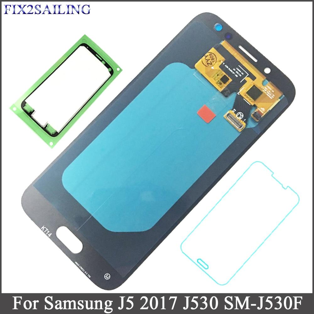 FIX2SAILING Super AMOLED Pour Samsung Galaxy J5 2017 J530 SM-J530F J530M Assemblée D'écran Tactile D'affichage À CRISTAUX LIQUIDES En Verre Trempé Autocollant