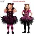Los Cabritos Del Vestido Del Verano 2016 Vestidos de Las Muchachas de Halloween Vestido de Princesa Aurora Niñas Vestidos de Partido de Los Cabritos Ropa de Disfraces de Halloween