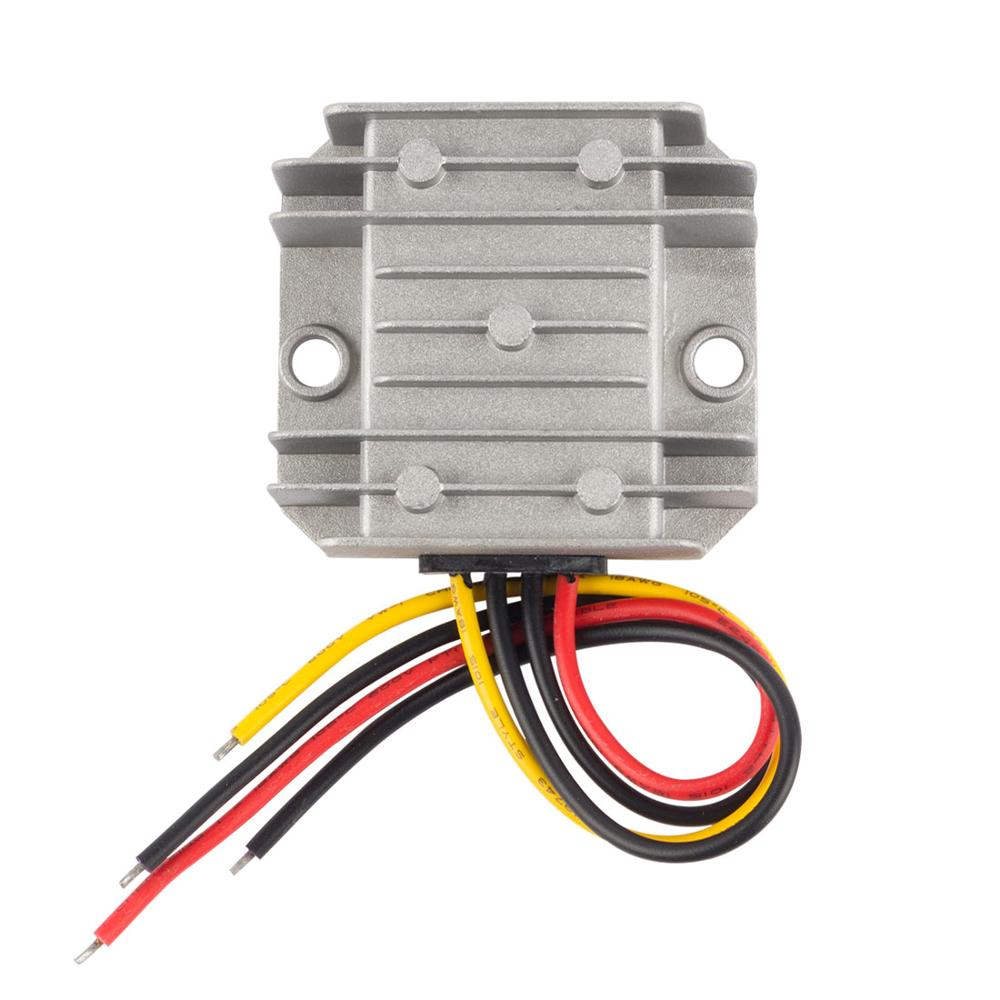 Hot Uxcell Power Converter Regulator DC 12V/24V(9V~35V) Step-Down to DC 6V 10A 60W Waterproof Voltage Converter Regulator New step up voltage 12v dc to 24v dc 10a power converter