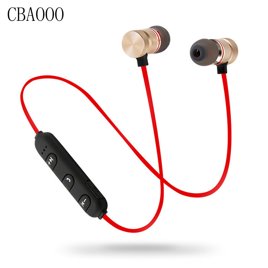 CBAOOO D9 Bass Bluetooth Earphone Sports Wireless Earphones Headset With Mic Stereo Metal Bluetooth Headphones for Mobile Phone