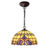 Turkish Stained Glass Metal Iron Chain LED E27 Bulb Hang Pendant Light Lamp Holder Personality Kid
