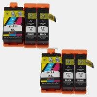 6PK Compatible For Dell 21 22 23 24 Ink Cartridges For dell 1525 V313 V313W V715W / V515W / P513wW / P713W Printer Dell 21 inks