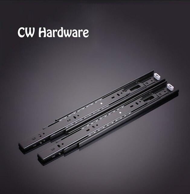 12 inch 2 pcs Drawer Slide, slide Laptop/ Cabinet Furniture Slides, Stainless Steel Wheel Bearing Slides 518