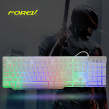 FOREV Professional USB Wired Gaming Keyboard Gaming Imitation Mechanical Gamer Keyboard with LED Backlit for PC Laptop Desktop(China)