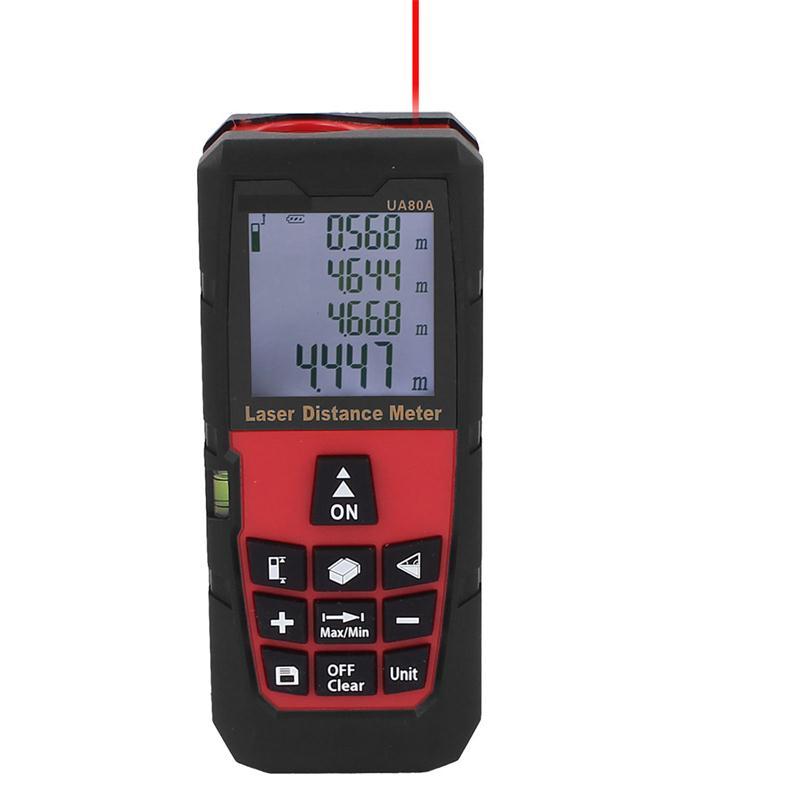 80M Mini Laser Digital Distance Meter Rangefinder Measure Tape Diastimeter Electrical Instruments Handheld Range Finder Tools