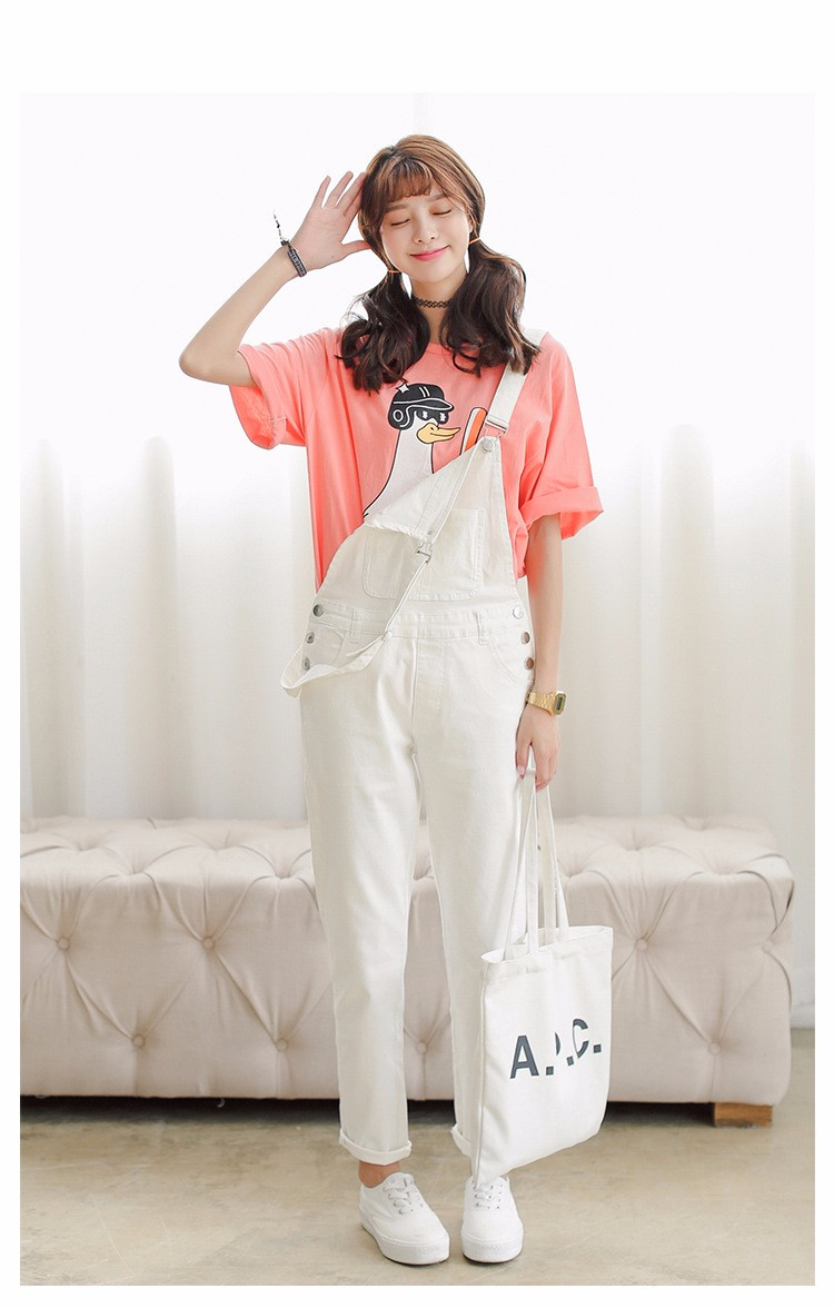 4a8b092d2b5f 4 Colors Denim Jumpsuit 2017 Korean Preppy Style Fashion Pocket ...