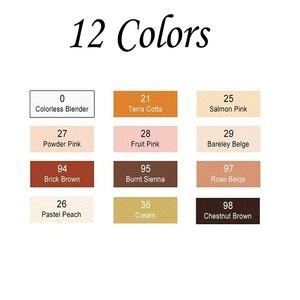 Набор тонов для рисования кожи TOUCHFIVE, 24 цвета, художественные маркеры, ручка на спиртовой основе с двойной головкой, кисть манга для рисования
