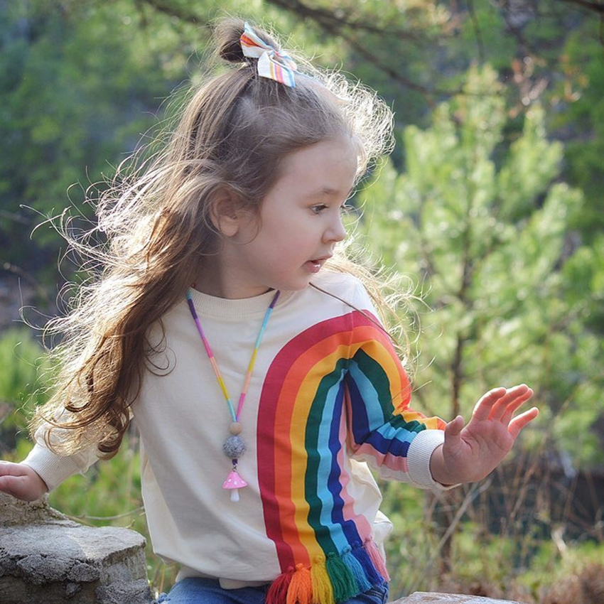 Mädchen Kleidung Benemaker 2019 Mode Sweatshirts Für Mädchen Frühling Long Sleeves Warme Regenbogen Quaste Kinder Pullover Kleidung Baby Kinder Jh015 Einfach Zu Reparieren
