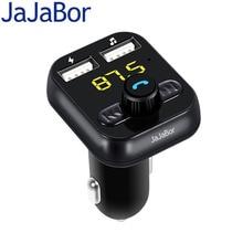 Jajabor громкой связи Bluetooth-гарнитуры для авто fm-передатчик громкой автомобильный MP3 аудио плеер Dual USB Автомобильное Зарядное устройство Поддержка TF карты/u диск